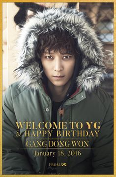 YG Family on Twitter: [GANG DONG WON-WELCOME TO YG & HAPPY BIRTHDAY] originally posted by http://yg-life.com  Photo from HIGHCUT #강동원