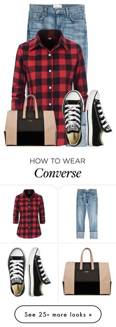"""""""Untitled #19870"""" by nanette-253 on Polyvore featuring Current/Elliott and Converse"""