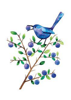 Sloe Eater Bird by Barbara Szepesi Szűcs