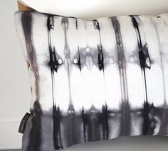 charcoal tie dye pillow cover