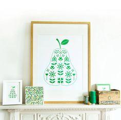 Folk Pear Print