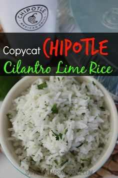 Copycat Chipotle Cilantro Lime Rice - Saving Dollars & Sense | Personal Finance Blog