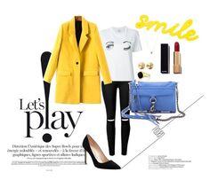 """Yellow Coat"" by veronika235 ❤ liked on Polyvore featuring Kate Spade, Chanel, Chiara Ferragni, Emani, Eddie Borgo, Manolo Blahnik, Rebecca Minkoff, women's clothing, women and female"