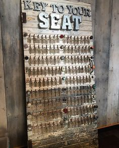 """Key to Your Seat"" - An awesome seating chart from a wedding at The Loft venue in Downtown Stillwater, Minnesota."