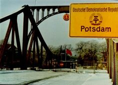 Berlin Wall, Glienicker Brücke 1961 the bridge in Glienicke is being walled up. Place of spy exchange during the Cold War and separation line between Berlin and Potsdam. East Germany, Berlin Germany, Potsdam Germany, West Berlin, Berlin Wall, Country Information, Warsaw Pact, Dark House, Cold War