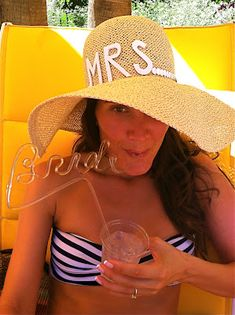 bendy straws for your bride's mades! Bachelorette Party!