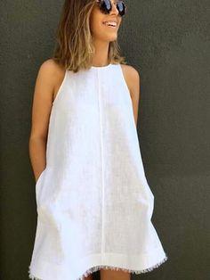 Linho branco, frescor