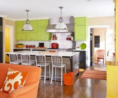 Eclectic Citrus Kitchen