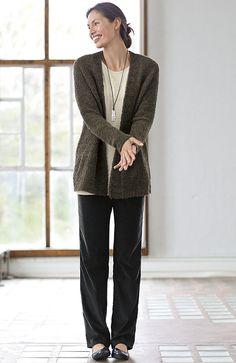 Pure Jill plush cardigan