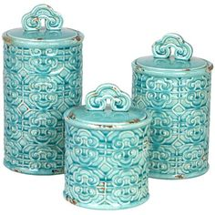 3 Piece Chinois Canister Set
