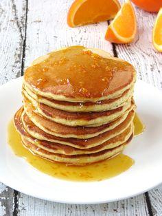 Orange Ricotta Pancakes   YummyAddiction.com