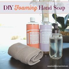 Making your own foaming hand soap is a cinch plus it will save you a ton of money.  Learn how!  DIY Foaming Hand Soap | Backdoor Survival