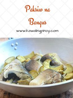 Paksiw na Bangus is a Filipino dish made with milkfish stewed in vinegar, garlic, onions and ginger