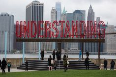 Curated by Nicholas Baume, _Understanding_ will be on view from May to October 2016 at Brooklyn Bridge Park's Pier New York City. Crafts For 3 Year Olds, Art Fund, Brooklyn Bridge Park, Alberto Giacometti, Action Painting, Outdoor Art, Diy Arts And Crafts, Installation Art, Art Installations