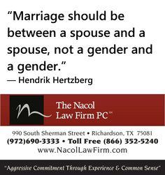 Same Sex Marriage In Texas- Nacol Law Firm