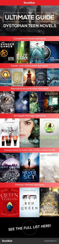 20+ dystopian teen books worth reading. These will keep fans of The Hunger Games and Divergent busy for a while! #Books