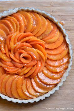 thanksgiving persimmon tart