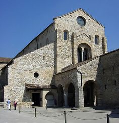 The Basilica of Aquileia. Aquileia is one of the main archeological sites of Northern Italy.