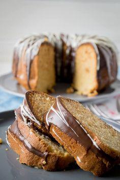Super lecker - Rührkuchen mit Marzipan