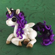 White and Purple Ombre Unicorn by Dragonsandbeasties