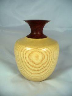 Ash vase with Padauk flute