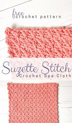 Suzette Stitch Spa Washcloth Crochet Pattern The Suzette Stitch is such a gorgeous and easy crochet texture stitch. It makes a beautiful crochet dishcloth or spa washcloth crochet pattern! Washcloth Crochet, Crochet Dishcloths, Tunisian Crochet, Blanket Crochet, Crochet Squares, Crochet Shawl, Crochet Crafts, Easy Crochet, Free Crochet