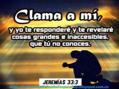 """La Biblia La Palabra De Dios Para Hoy: """"citas biblicas para jovenes""""-Jeremías 33:3"""