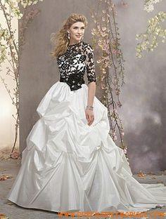 Robe de mariée princesse taffetas avec boléro dentelle