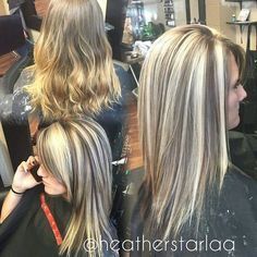 Heavy blonde highlight with a dark brown lowlight and unde… | Flickr