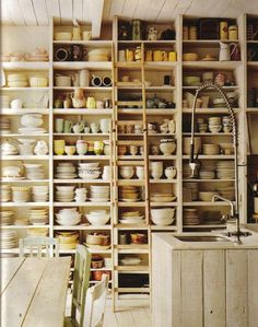 I would love built in floor to ceiling shelving in the workroom.