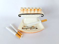 vintage ashtray cigarette-holder mid century by pennsvintage