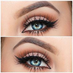 Rose gold eyeshadow look More