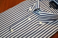 Faconnable  Striped  Sport Shirt  Navy | #Mondo #Uomo #Naples #Fashion
