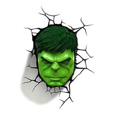 FYI: Glow Decorative Incredible Hulk Face Light Up Wall Hanging Cool Cordless Led Hulk Marvel, Avengers Superheroes, Hulk Avengers, Marvel Art, Spiderman, Hulk Tattoo, 3d Deco Light, 3d Light, Face Light