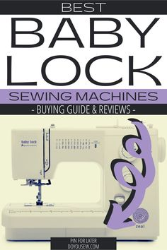 Baby Lock sewing machines may not be as prominent as Singer and Brother brands. But, when it comes to quality and performance, Baby Lock matches and sometimes exceeds these most popular brands. Baby Lock sewing machines are excellent and reliable. If you're searching for a new sewing machine, a Baby Lock might be worth considering. #doyousew #sewingmachine #sewingmachinereview #bestsewingmachines #babylock #babylocksewingmachines #sewer #sewist #seamstress #tailor #garment #stitching Baby Lock Sewing Machine, Sewing Machine Stitches, Sewing Machine Reviews, Baby Sewing, Machine Quilting, Sewing Hacks, Sewing Tutorials, Make A Gift, Sewing Projects For Beginners