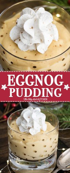 Eggnog Pudding, homemade pudding made with eggnog, yummy on its own or in desserts! #Recipe from ThisSillyGirlsKitchen.com #homemadepudding #eggnog #christmas #dessert