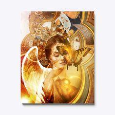 Canvas Art Prints Surreal Artwork, Surreal Collage, Collage Art, Canvas Art For Sale, Canvas Art Prints, Alchemy Art, Spirited Art, Angel Art, Poster Making