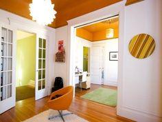Great Orange Ceiling Paint Design Ideas