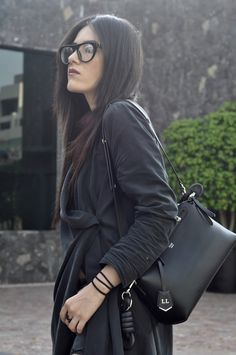 [ Lizzie Lo ]: those april showers better bring those may flowers... http://www.lizzie-lo.com/2016/04/those-april-showers-better-bring-those.html [PRADA glasses  +  HM trench  +  Fendi by the way bag  +  LOEWE knot charm  +  Zara jeans  +  Marc Jacobs + MARIPOL ring  +  Maison Martin Margiela laceless brogues]