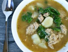 A hearty and warm Sausage, Kale, and Potato Soup full of flavor that only gets better with age.