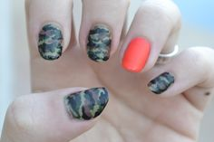 Matte camo nail art  by LookAtHerNails