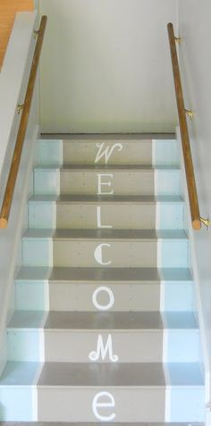 Shine Your Light: Mudroom Makeover: Painted Stairs