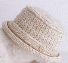 Patrón #1143: Sombrero a Crochet.