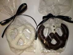 Bride And Groom Pretzel Favors Bridal Shower by JustMoreChocolate