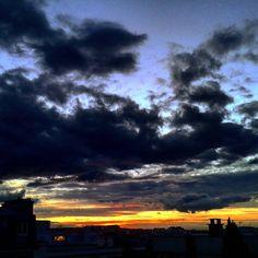 #sunset #sunsets #sky #parissky #paris #mysky #ciel #coucherdesoleil #залез #небе