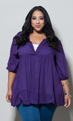 Emmylou Tunic in Purple $49.90 by SWAK Designs #swakdesigns #PlusSize #Curvy