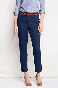 Womens Fit 2 Slim Ankle Chino Pants from Lands End