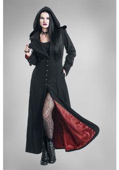 Blood Red - Manteau en laine par Gothicana by EMP