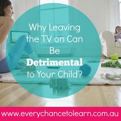 Dr Kristy Goodwin explains why leaving the TV switched on is detrimental to young children's development and learning and why it's so important that it's switched off when it's not in use.