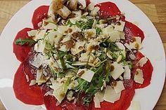 Carpaccio von Roter Bete, ein raffiniertes Rezept aus der Kategorie Gemüse. Bewertungen: 53. Durchschnitt: Ø 4,6.